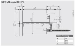 ابعاد 2 ترموستات دنباله دار (کاپیلاری) ویکا WIKA مدل SB15 - پیشرو صنعت آزما