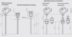 ابعاد ترموکوپل (Thermocouple) ویکا WIKA مدل TC10-D - پیشرو صنعت آزما
